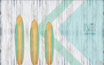 Surf tema backdrop 4x2.5m