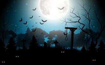 Halloween kyrkogård galgbacke