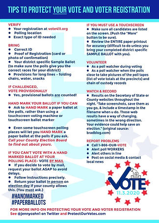 Tips to protect your vote and voter registration