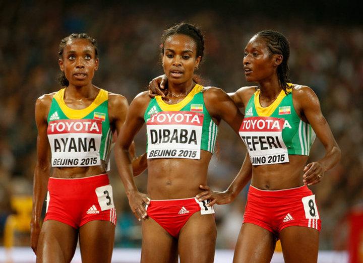 Genzebe+Dibaba+Almaz+Ayana+15th+IAAF+Wor
