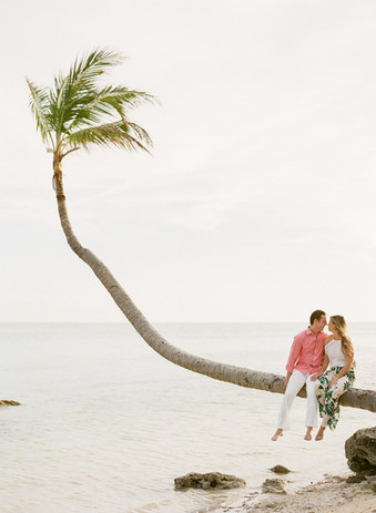 Intimate beach engagement session