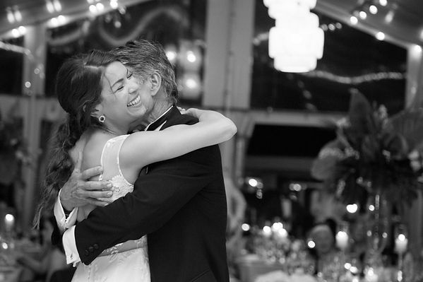 intimate father and daughters dance
