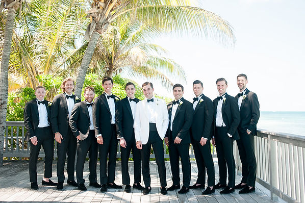 The groomsmen for a bahamas wedding