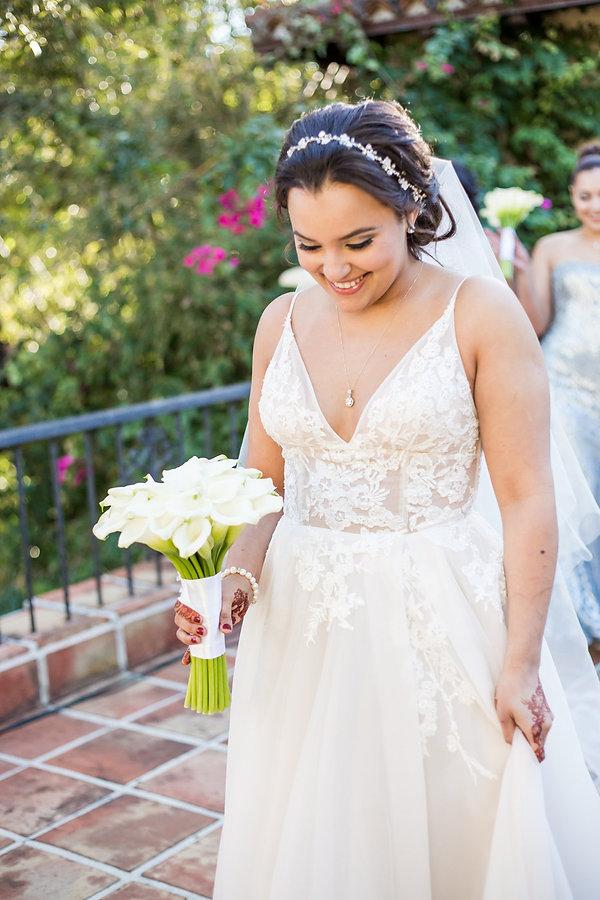 Bride at villa woodbine