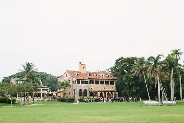 Reception party at the deering estate