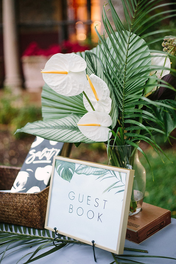 Guest book reception idea