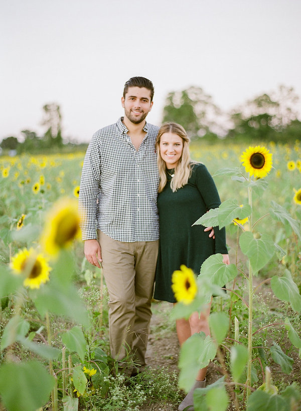 Sunflower field Engagement session Florida