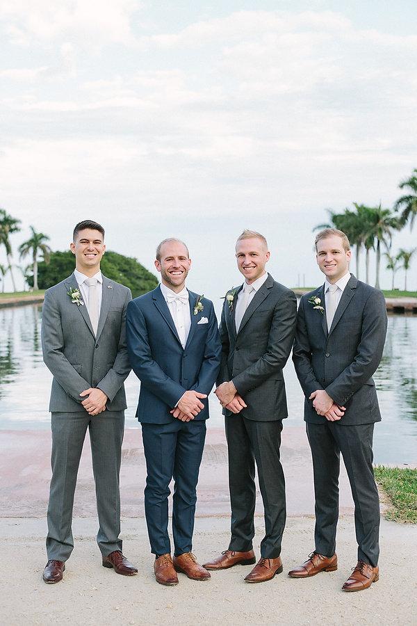 groomsmen at the deering estate