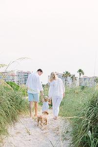 Beach family photo in miami