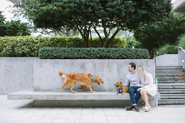 Dog lovers engagement shoot