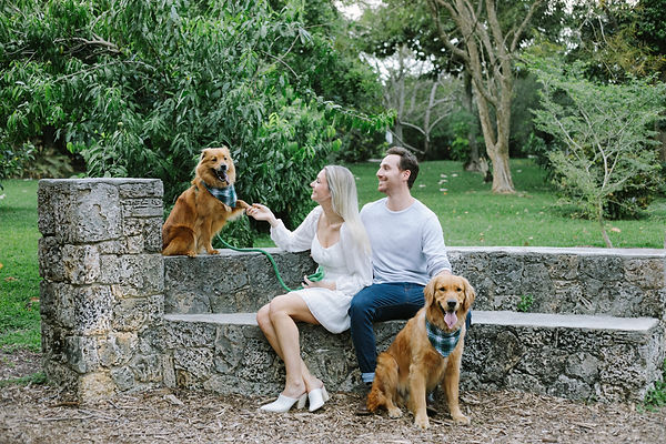 Engagement Photo with Dogs
