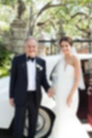 Father and Bride at Vizcaya Wedding