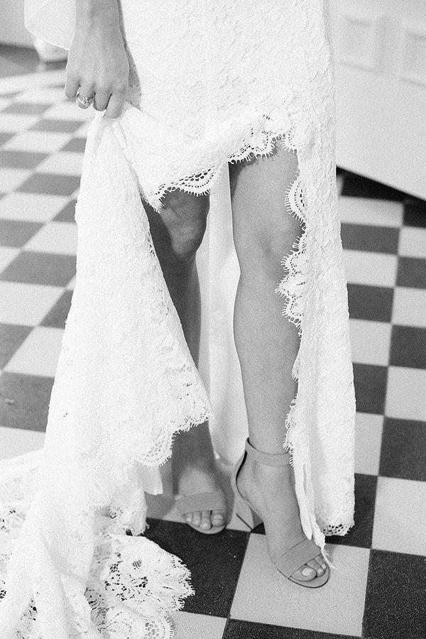 Black and white wedding photographer miami