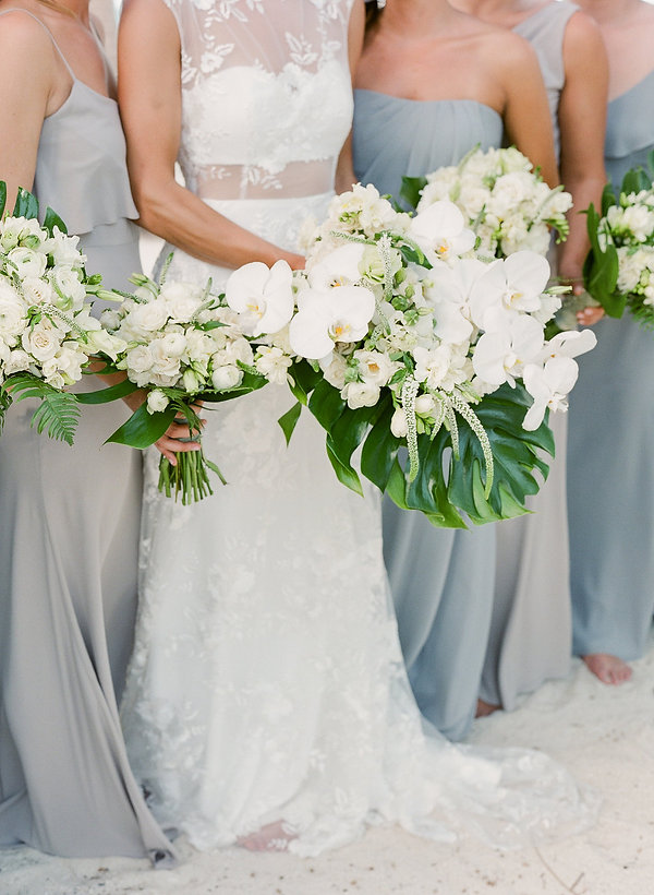 tropical wedding bouquet by wildflowers Bahamas