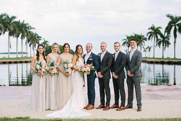 Photographer for weddings at The deering estate