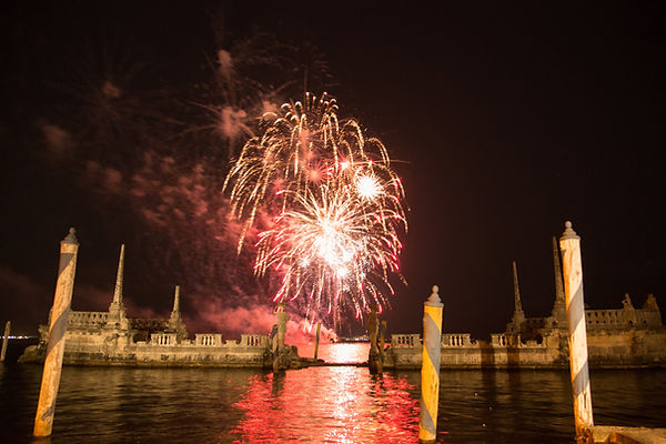 wedding fireworks vizcaya
