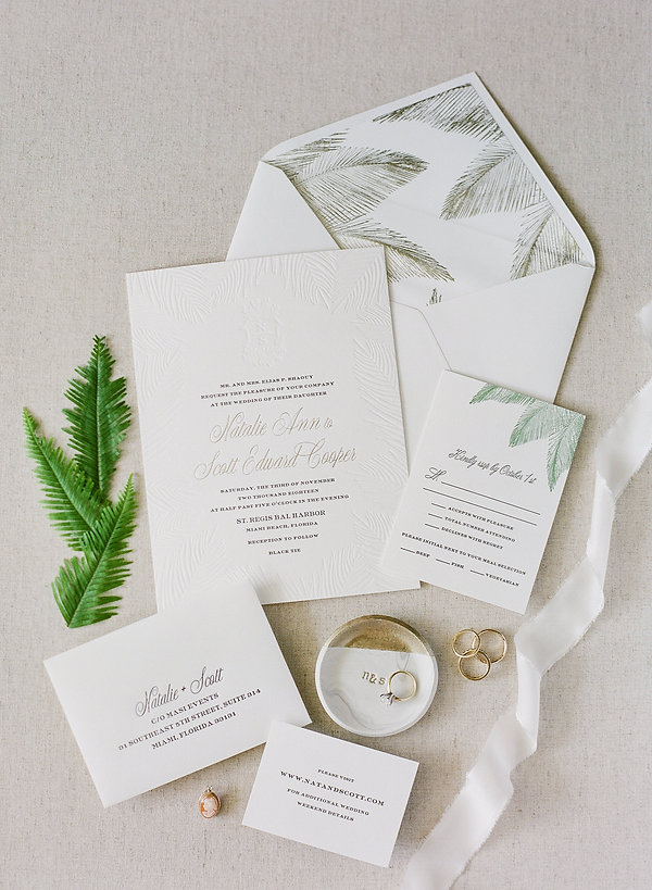 miami wedding invitation ideas