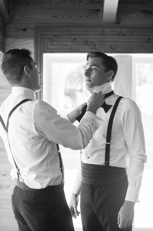 Groom getting ready for a bahamas wedding