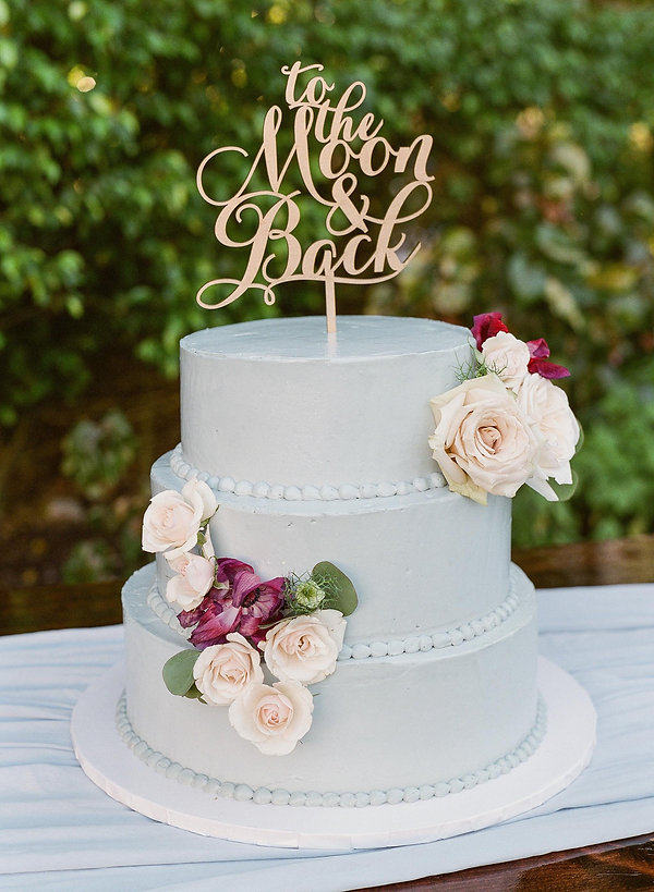 to the moon and back wedding cake