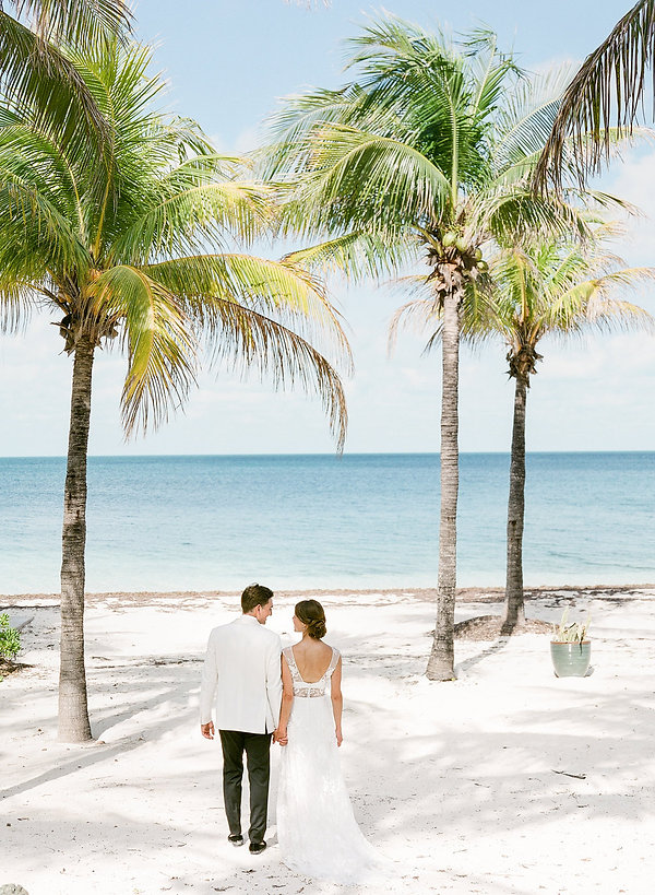 Wedding portraits in Cat Cay Yacht Club Bahamas