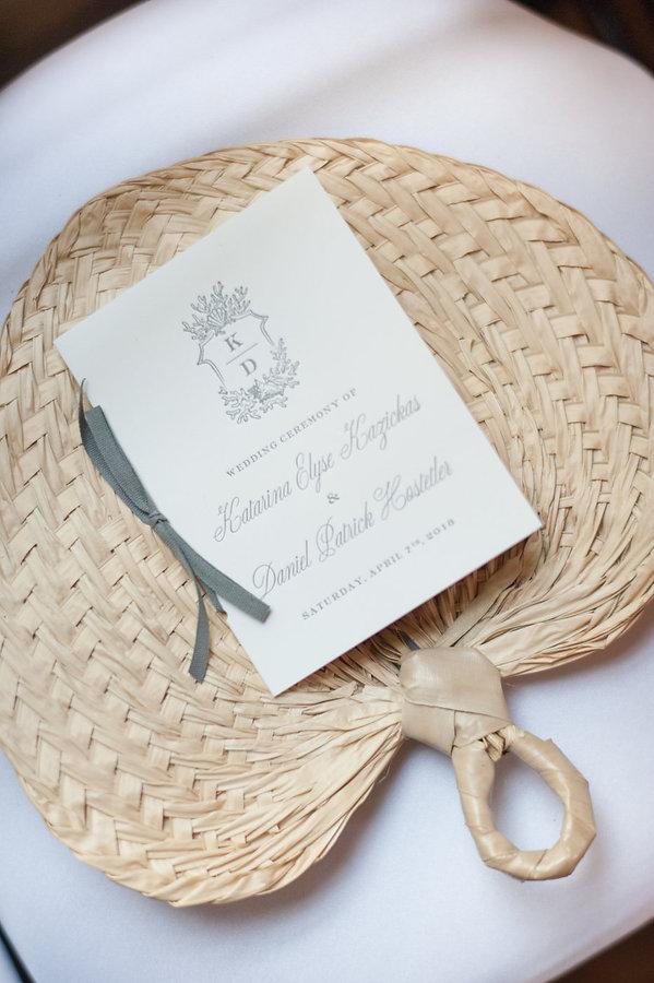 Native Fan in a Bahamas wedding
