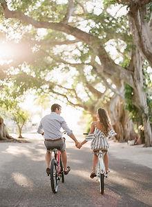 Bike engagement session Gasparilla Island