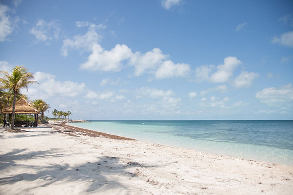 White sand beaches of the bahamas