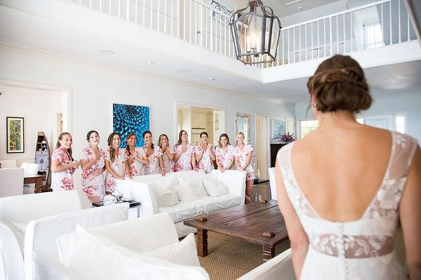Bridesmaids in Cat Cay Bahamas