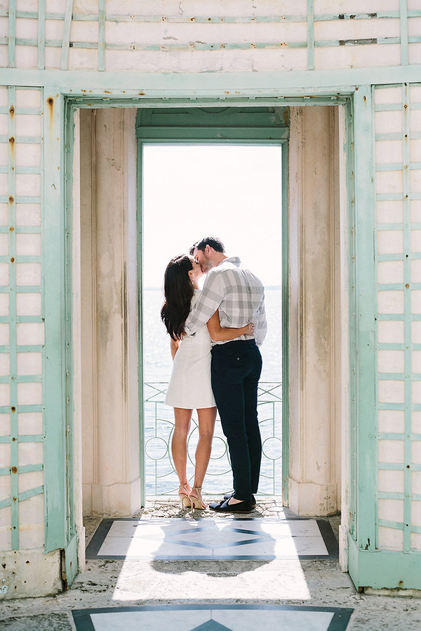 Vizcaya museum and garden engagement session