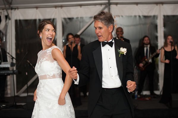 fun father and daughter wedding dance