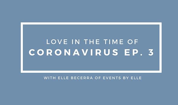 Coronavirus Wedding Planning