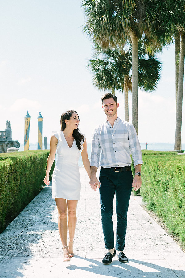 Vizcaya museum and garden engagement photographer