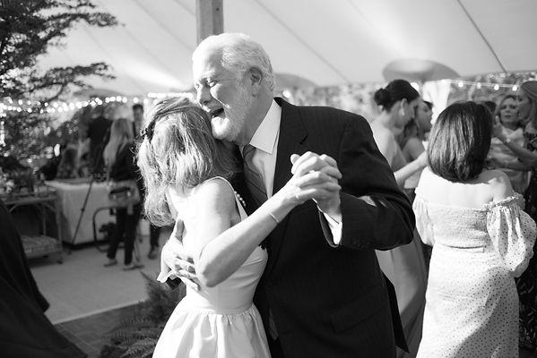 Black and White Wedding Reception