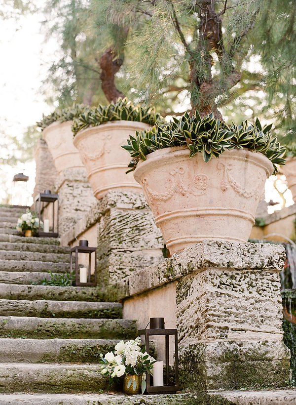 Vizcaya Museum and garden intimate wedding