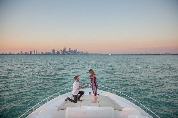 Beautiful Yacht proposal photoshoot Miami