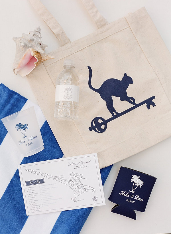 Custom welcome bags for weddings