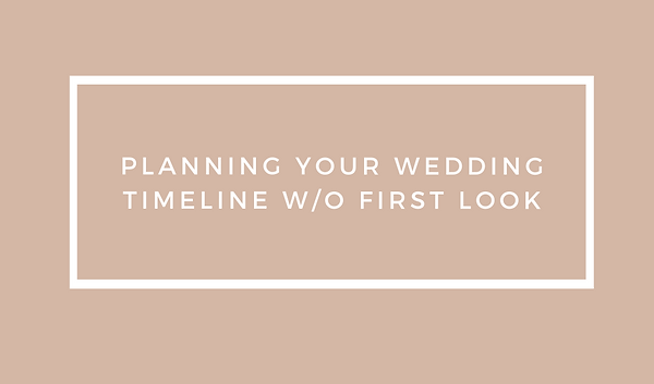 Planning your wedding timeline without t