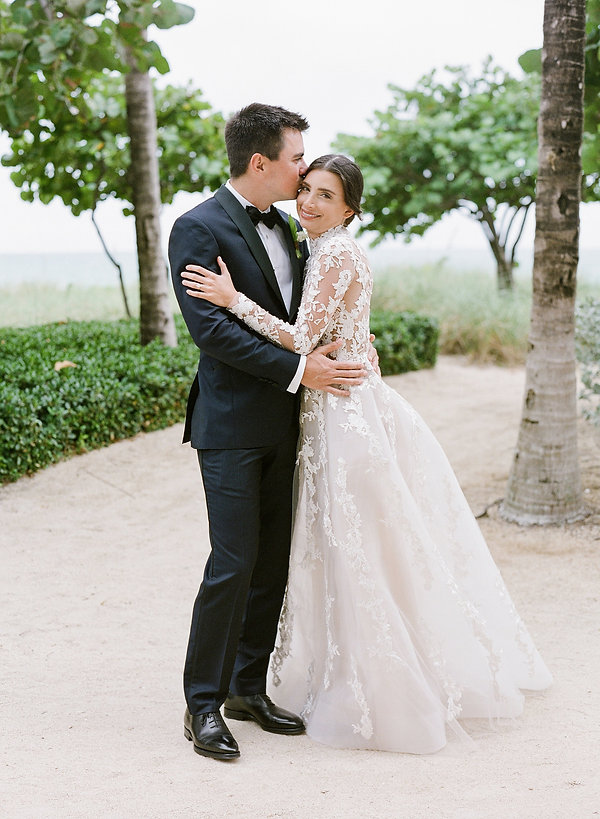 st regis bal harbor wedding portrait