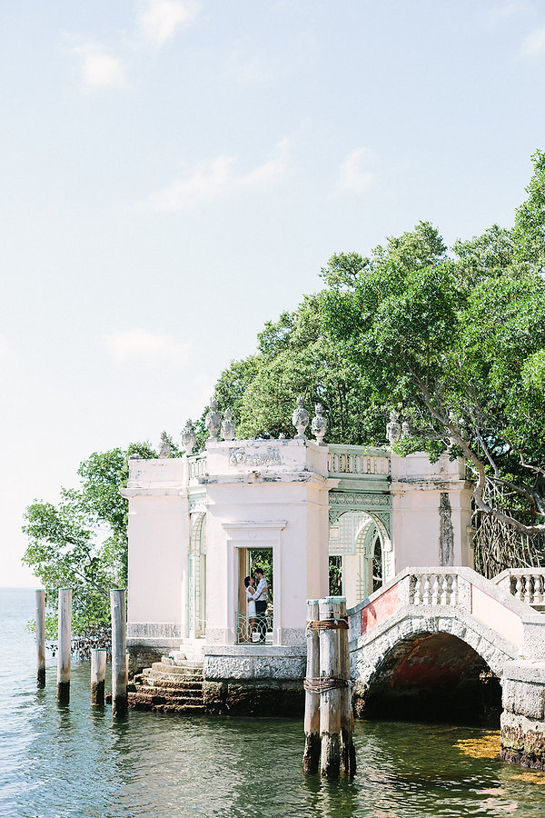 Vizcaya museum and garden engagement Photography