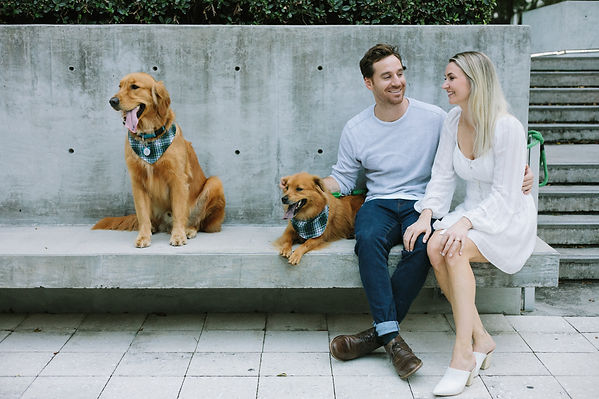 Engagement Session with pets