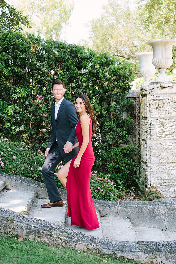 Engagements photographer at the Vizcaya museum and gardens
