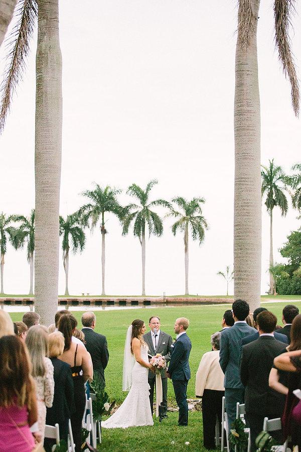 tropical wedding wedding setting at the deering estate