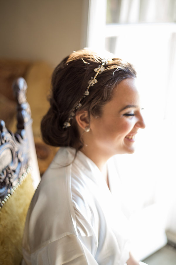 Gorgeous bride at villa woodbine