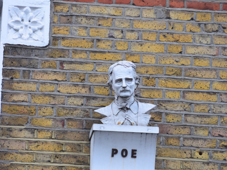 Gothic Night, Stoke Newington, watched over by Poe