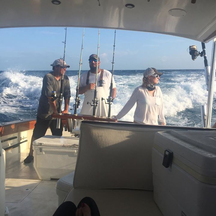#firstchoicecharters with Capt Larry Wren & KiKi......great day!  Great team!  Great set of Groupers