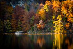 Autumn on Lake Alpsee, Bavaria