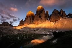 3 cime sunset