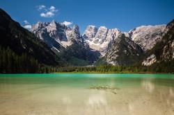 Lake Landro and Mount Cristallo