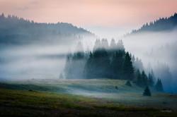 Marcesina, nebbia all'alba