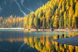 Autumn colours, Lake Braies